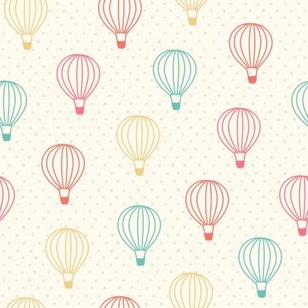 Seamless wzór z kolorowych balonów na ogrzane powietrze