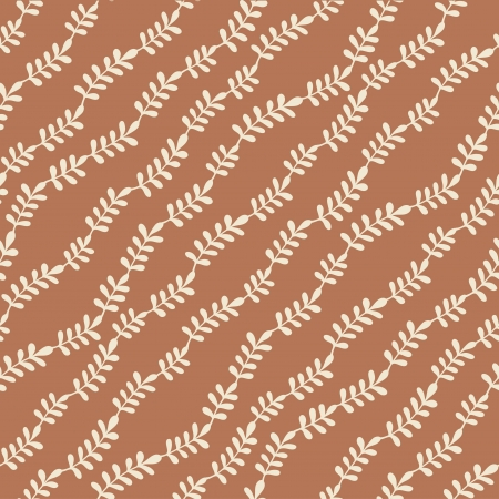 Seamless stylish pattern with leaves illustration Stock Illustration - 20219087