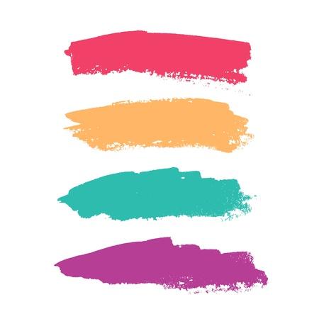 Beautiful color grunge design elements. illustration