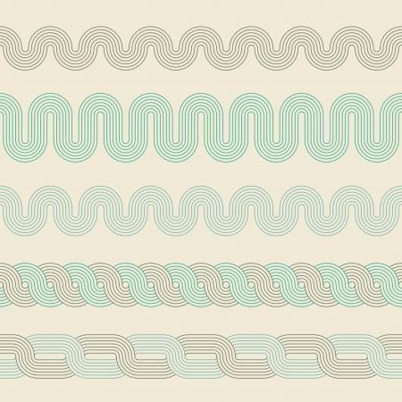 braids: Abstract retro background. Seamess borders.