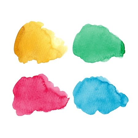 watercolor splash: Beautiful watercolor clouds for design.