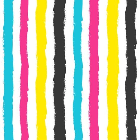 cmyk: Grunge stripes pattern in CMYK colors. Vector