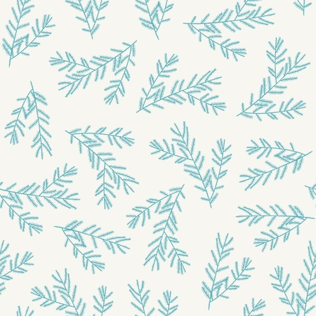 pine needles: PrintSeamless pattern with fir branches. Vector illustration Illustration