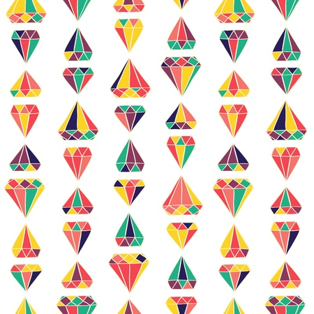 Seamless stylish color diamonds pattern. Vector illustration Vector