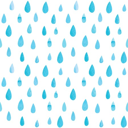 kropla deszczu: Bez szwu deseniu z kropli akwarela. Ilustracji wektorowych Ilustracja