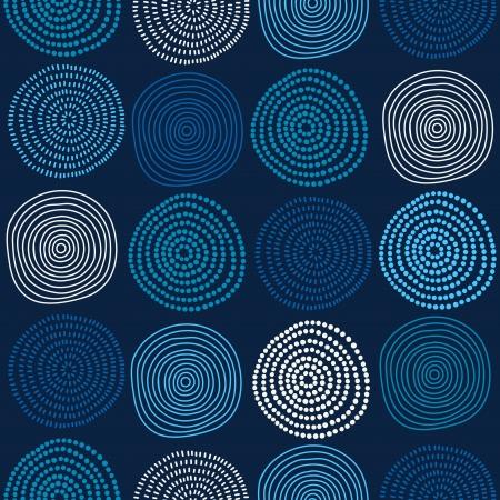 Seamless stylish hand drawn pattern. Vector illustration Illustration