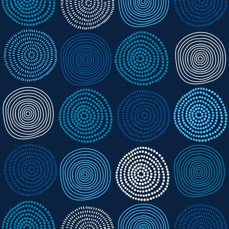 Seamless stylish hand drawn pattern. Vector illustration Çizim