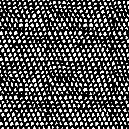 fish net: Seamless abstract hand drawn pattern  Vector illustration