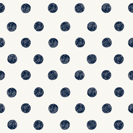 Seamless pattern with hand drawn circles. Vector Çizim