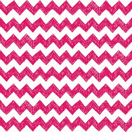 zig: Seamless pattern with hand drawn zig zag