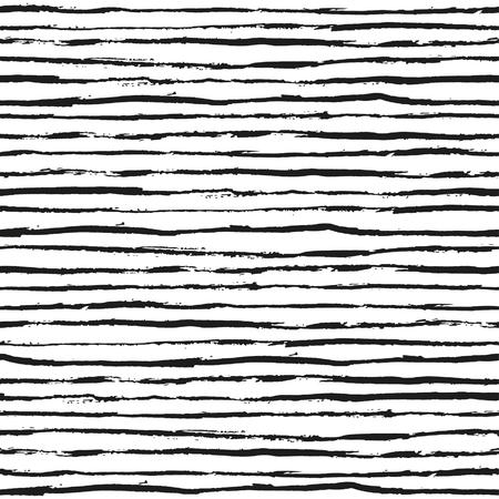 striped: Seamless hand drawn striped pattern Illustration