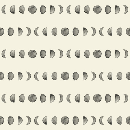 Seamless moon phase pattern