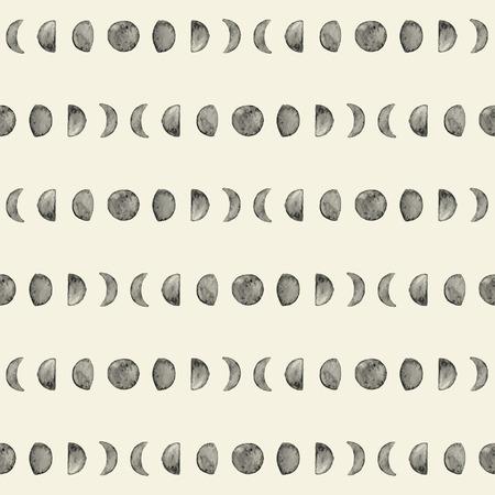 Luna De Dibujos Animados Y Fases Lunares. Ilustración Del Vector ...