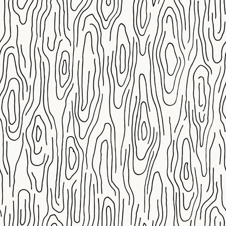 Seamless hand drawn wood texture Illustration