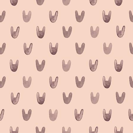 keywords backdrop: Seamless cute pattern with watercolor rabbits