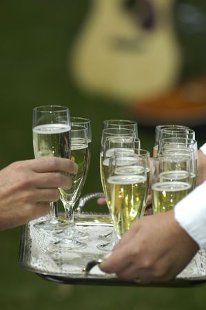 Serving champagne                            photo