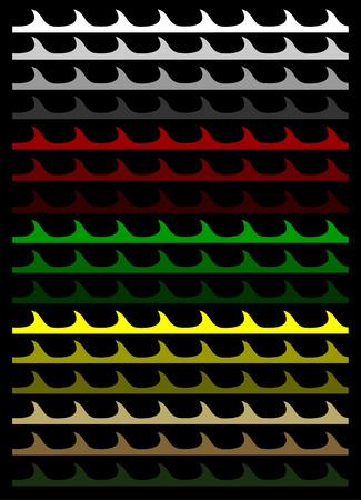 vectorized: vectorizado coloridas olas para uso ilimitado