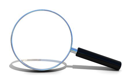Magnifying glass isolated over white photo