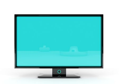 Flat Lcd tv/monitor on white background with light shadows for better depth. Stock Photo - 4824160