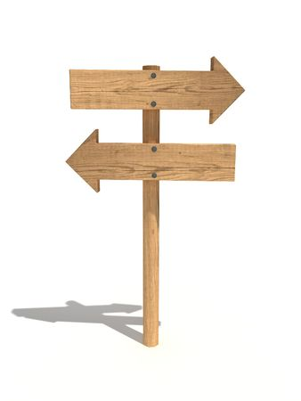 Two way wood sign/arrows Stock Photo - 4824122