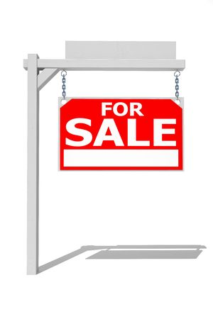 Real estate sign on white Stock Photo - 4869844
