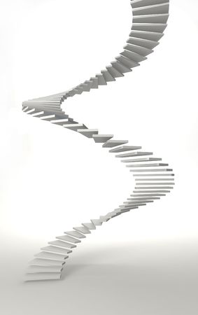 spiral staircase: white spiral stair in white room