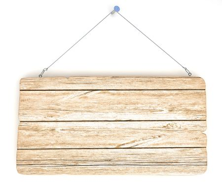 Empty old wood notice board, hanging on the wall Stock Photo - 5533243