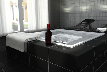 tub: Spa en casa privada de relajaci�n