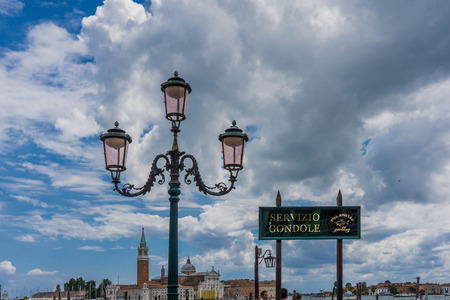 gondoliers: Lantern in Venice