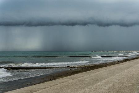 Storm at sea photo