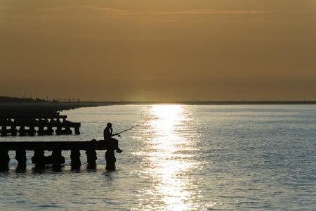 lido: fishing in the morning Stock Photo