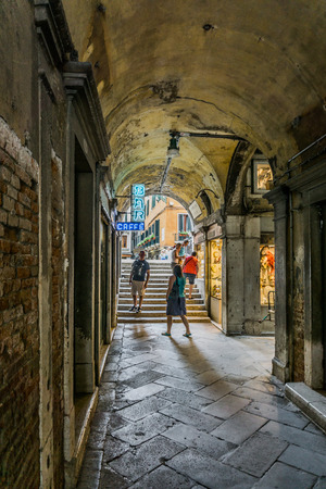 st marks square: Alley in St. Marks Square in Venice
