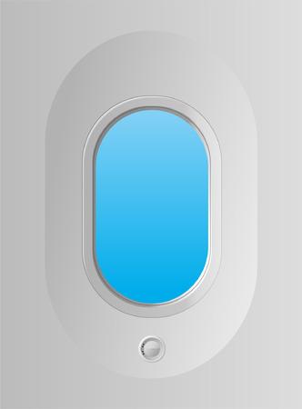 window view: airplane window Illustration