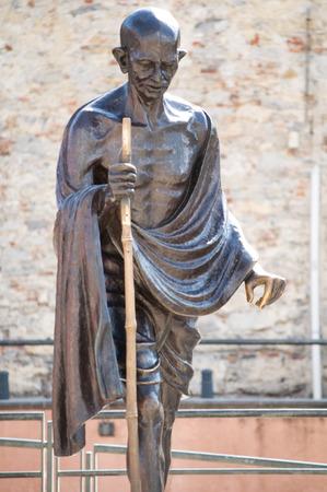 gandhi: statua di Mahatma Gandhi a Genova, Italia