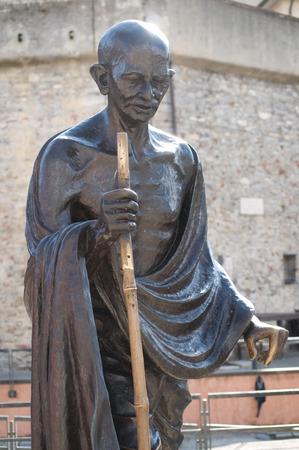 statua di Mahatma Gandhi a Genova, Italia Archivio Fotografico