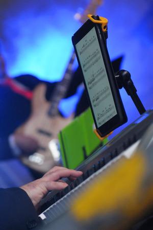 pianoforte: nuove tecnologie Stock Photo