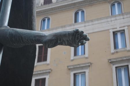 statue in the city of Genoa in Liguria Stock fotó - 106212857