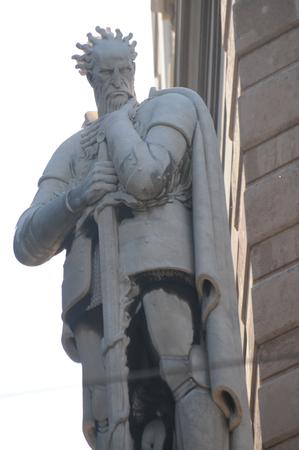 statue in the city of Genoa in Liguria