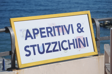 aperitif and appetizer sign