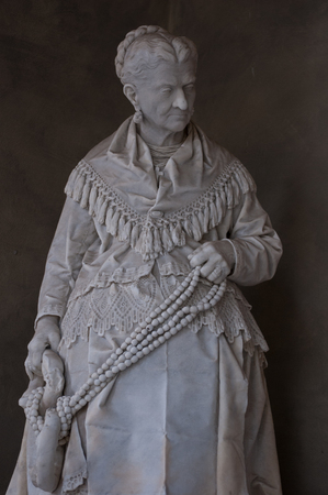 old female statue background. Stock Photo