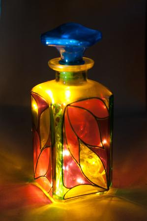 colored glass bottle Banco de Imagens