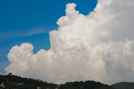 big pile of white clouds Banco de Imagens