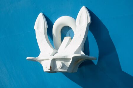 anchor of a big blu ship