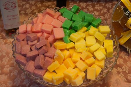 tray of colorful candies