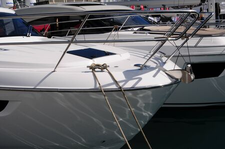 bow of a white yacht