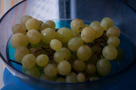 close-up of a bunch of white grapes Banco de Imagens