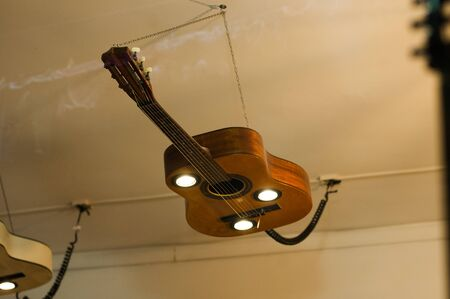 lamp made from a guitar