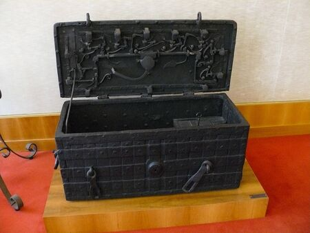 ancient safe of the first founded banks