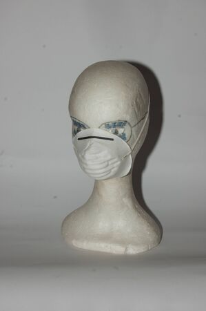 paper mask against smog and viruses