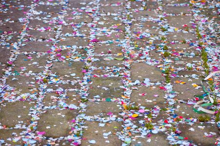 colorful carnival confetti used for the party